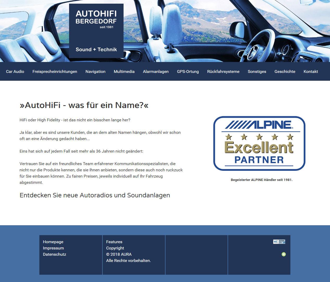 Responsive WebSite AutoHiFi-Bergedorf 2018