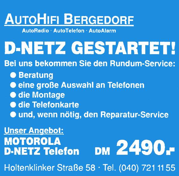 D-Netz gestartet für Mobiltelefonie im Fahrzeug
