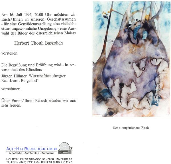 Vernissage bei AutoHiFi-Bergedorf mit atomgetriebenem Fisch